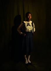 Tosin in her uniform (adeoluosibodu) Tags: portrait uniform school shadow darkness sister fineart