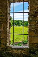 Inside Looking Out (jmhutnik) Tags: castle window brick summer squirescastle bars