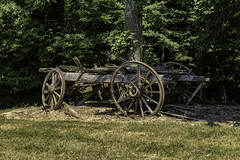 Decaying Wagon (will139) Tags: ruraldecay wagon relic antique wooden ruralindiana decaying rustic vintage