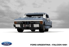 Ford Argentina - Ford Falcon 1991 (lego911) Tags: ford do argentina falcon 1991 1990s classic retro south america auto car moc model miniland lego lego911 ldd render cad povray
