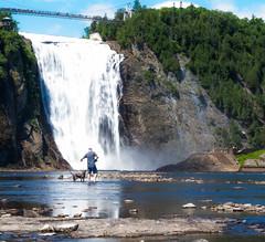 Beautiful Chute de Montmorency(Montmorency Falls) (dtman04) Tags: quebec québec stlawrenceriver viaferrata montmorencyfalls man dog nature bridge