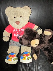 Get out of THAT, mate! (pefkosmad) Tags: fleafairpurchase malvern teddy bear secondhand vintage used wendyboston washable playsafetoy tedricstudmuffin ted cute cuddly soft stuffed animal toy fluffy plush jealous jealousy