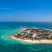 Aerial of Isla Mujeres in Mexico