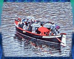 A boat full of umbrellas (FotoFling Scotland) Tags: florence firenze arno river boat umbrella