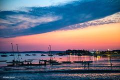 Début de nuit sur le Bassin (didier95) Tags: bassindarcachon andernoslesbains andernos nouvelleaquitaine mer paysage ciel nuage coucherdesoleil