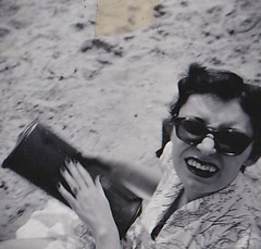 Clacton Beach Essex 1950's (Bury Gardener) Tags: bw blackandwhite oldies old snaps scans 1950s england uk britain clacton essex