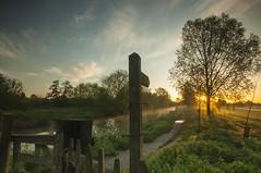 Essex River Chelmer (daveknight1946) Tags: essex riverchelmer sunrise river signpost style gate greatphotographers