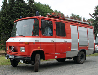 Old Mercedes Fire Truck
