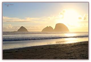Three Arch Rocks, at sunset