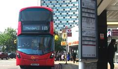 London General WHV84 on route 118 Morden station 01/07/18. (Ledlon89) Tags: bus buses london transport londonbus londonbuses goaheadlondon goaheadgroup tfl londontransport wrightbus volvo morden surrey