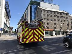 Limerick Fire Brigade - Junction Of Henry Street and Shannon Street, Limerick (firehouse.ie) Tags: limerickcityfireservice limerickfirebrigade limerickfireandrescue lfb wrtl wrt pumpladder pumper pump tender engine apparatuses apparatus appliances appliance henrystreet brigade fire limerick