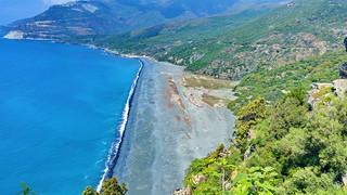 524 - Cap Corse - Nonza, la falaise et la plage