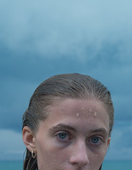 (Džesika Devic) Tags: beach summer storm blue sky eyes water portrait girl leica m mtyp240