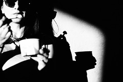 Ice Cream 306.365 (ewitsoe) Tags: canoneos6dii city ewitsoe street warszawa erikwitsoe poland summer urban warsaw 4th july america icecream bnw blackandwhite mono monochrome dark shadows canon steet woman lady eating desert delicious tłusty kotek
