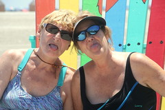 A good friend will bail you out of jail... (Judecat (back on the farm)) Tags: me judy bestfriend nancy stickingouttongue silly wildwood beach