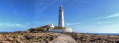 Awaiting The Tide And The Night (cassidymike21) Tags: sea rocks coast lighthouse buildings nikon