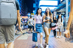 Street Style (人間觀察) Tags: street streetphotography photography sony sonyrx1r rx1rm2 rx1r candid city night people girls travelling 35mm f2 wideopen offfinder 街拍 街道 hongkong hk kowloon