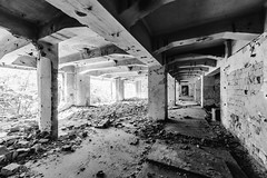 27/30 2017/07 (halagabor) Tags: nikon d610 manualfocus urban urbex urbanexploration urbanexploring abandoned abandonment decay derelict devastation budapest building architect architecture lost lostplaces forgotten old industrial factory samyang samyang14mm 14mm bnw blackandwhite monochrome