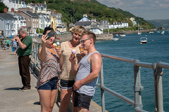 Selfies at Aberdyfi (Howie Mudge LRPS BPE1*) Tags: man men woman women people outside outdoors selfie posing pose smile smiling aberdyfi gwynedd wales cymru uk bright sunny day july summer 2018 icecream happy water sea boats yachts fence photographer sony sonya6300 sony18135mmlens sonyalpha sonyilce6300 e18135mmf3556oss