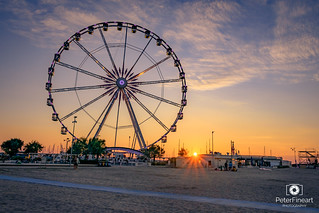 The Wheel of Rimini, Sunset evening