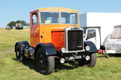 United Dairies 1947 Scammell MME502 Wiston Steam Rally 2018 (davidseall) Tags: united dairies scammell scammel 1947 mme502 mme 502 tractor unit motive gardner engined powered truck lorry artic old british wiston steam fair rally 2018