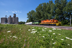 IORY 3493 - Thackery, OH (Wheelnrail) Tags: io iory indiana ohio railway emd sd402 locomotive railroad rail road rails train trains lsl lima south local freight dti mainline thackery oh rural farmland midwest