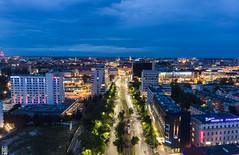 Aerial Wroclaw (Maciek Lulko) Tags: dji mavicair wroclaw aerial drone polska poland city urban bluehour