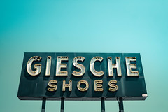Shoegaze Forever (hartsaw) Tags: neon vintage sign retro signage giescheshoes glenellyn illinois midcentury modern