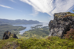 Mountain hike (G E Nilsen) Tags: nordland norway ramntind sky toghatten sea northernnorway norwegiancoast mountain