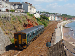 150232 Dawlish (2) (Marky7890) Tags: gwr 150232 class150 sprinter 2f23 dawlish railway devon rivieraline train
