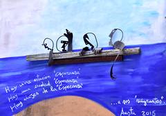 Mural at Orgosolo (MarkusR.) Tags: mrieder markusrieder nikon d7200 nikond7200 vacation urlaub fotoreise phototrip italy2018 italy 2018 italien sardinia sardinien kurzurlaub shortbreak insel island europa europe orgosolo nuoro murales murals wandbilder history geschichte paintings bilder town city stadt dorf bootsflüchtlinge boatpeople menchlichkeit humanity