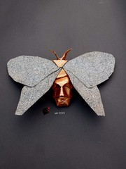 butterfly effect (-sebl-) Tags: sebl origami butterfly effect cement stone paper fly art