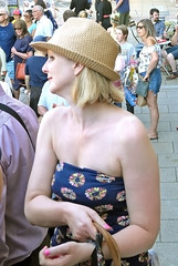 Nice Hat .... (ian con) Tags: girls blondes shoulders bare