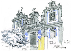 Porto, 2018 (gerard michel) Tags: portugal porto église baroque sketch croquis