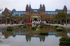 Amsterdam, Holland (mividaenpostales) Tags: rijksmuseum amsterdam holland holanda museum europa europe canon reflections reflejos urbanlandscape paisajeurbano museo