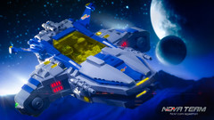 Twilight Run in the Paladin (Agaethon) Tags: lego afol legography brickography legophotography minifig minifigs minifigure minifigures toy toyphotography macro cinematic 2017 legospace neoclassicspace spaceman classicspace space spaceship scifi sciencefiction ncs novateam customminifigure moc paladin