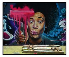 STREET ART by WOSKERSKI (StockCarPete) Tags: woskerski afro roller streetart londonstreetart urbanart graffiti sleepers london uk