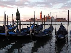 Sunrise in Venice EXPLORED! (Shahrazad26) Tags: sangiorgiomaggiore venetië venice venezia venedig italië italy italien italia gondels gondolas