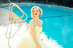 Mad Woman (Abigail Gorden) Tags: cinematic moviestill filmstill movie januaryjones madmen retro vintage style fashion dress model modeling actor actress oldhollywood hollywood la losangeles cali redlips blonde pool summer water pearls
