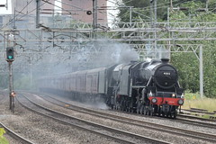 LMS 45212 and LNER 60103 @ Rugeley Trent Valley train station (ianjpoole) Tags: london midland scottish railways stanier black 5 45212 north eastern railway class a3 pacific 60103 flying scotsman working steam dreams 1z29 the lakes express from victoria carnforth