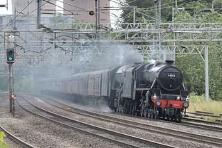 LMS 45212 and LNER 60103 @ Rugeley Trent Valley train station