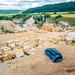 BMW i3 im Steinbruch