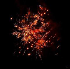 skirmish (milomingo) Tags: outdoor night sky fireworks pyrotechnics wisconsin texture abstract black onblack multiple light dark contrast vivid geometry symmetry line pattern vibrant swiggle stopmotion explosion technique dimension photoart inorganic curve repeat burst red blue blackbackground