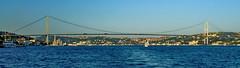 Istanbul, Bosphorus Bridge (gerard eder) Tags: world travel reise viajes europa europe turkey turquia türkei istanbul estambul bosphoro bosphorus bridges brücken puentes wasser water outdoor