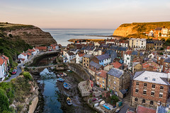 To The Left The Sky Is On Fire. (Dean Conley) Tags: nikon nikond7200 staithes seaside cliffs boat house tokina1120mmf28 sunset muted rocks streets rooftops dslr flickr lackofcolour northyorkshire