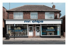 mr. chips (Number Johnny 5) Tags: 2018 tamron d750 nikon doors restaurant fish typography storefront mundane curtains takeaway imanoot banal chipshop chips windows urban sign 2470mm bins johnpettigrew
