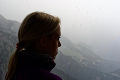In a safe place (picsessionphotoarts) Tags: portrait porträt nikon nikond750 nikonfotografie nikonphotography beautifulwoman woman 50mm afsnikkor50mmf14g festbrennweite bayern bavaria deutschland germany berchtesgaden berchtesgadenerland alpen mountains kehlsteinhaus eaglesnest badweather rain thunderandrain