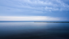 blue sea ([-ChristiaN-]) Tags: bluesea shore küste strand beach water mare meer baltic sky clouds calm simple minimalism minimalismus ruhig wolken