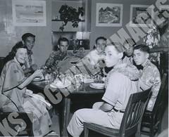 941- 5556 (Kamehameha Schools Archives) Tags: kamehameha archives ksg ksb ks oahu kapalama luryier pop diamond 1955 1956 hawaiian table lei day dinner most
