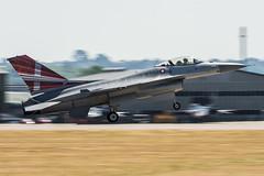 F-16AM Fighting Falcon (Przemyslaw Burdzinski) Tags: general dynamics f16am fighting falcon denmark air force e607 rnas yeovilton day yeo egdy united kingdom 07072018